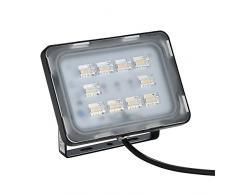 Viugreum Lampada LED Esterni 30W Impermeabile di VI Generazione Basso Consumo Lampada Luce Potente Super Luminosa Faretto da Giardino Garage Bianco Caldo