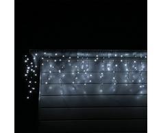 CLGarden Tenda Luminosa a cascata, LED luci esterni illuminazione natale Colore bianco freddo Motivo Pioggia di ghiaccio LEDESR400 Giardino, Casa, Grondaia, Terrazza, Balcone, interno e esterno