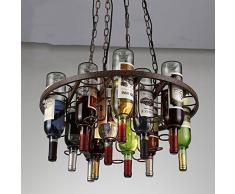 MSAJ-Bottiglia lampadario arte lampadari di ristoranti, pub, caffetterie bar decorato lampadario soggiorno sala da pranzo 520*350mm