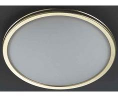 Hufnagel 561311Â e, lampada da soffitto, ottone, 46Â W, E27, bianco, 10Â x 12Â x 15Â cm