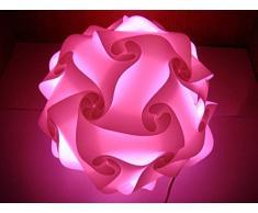 Zulux Puzzle Lamp Shade / Jigsaw IQ Light ombra di soffitto dello schermo di lampada a sospensione moderna illuminazione della decorazione del diametro 40cm per il salone Camera Sala ecc (Red Rose)