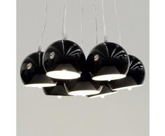 Lampada metallo BARE design a sospensione (nero)