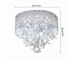 Lampada da soffitto LED romantico lampadario a risparmio energetico farfalla in cristallo acrilico soggiorno lampada da soffitto lampada da soffitto camera da letto lampada da soffitto