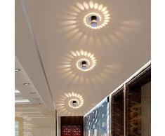 3 W LED illuminazione incassato quadro e lampada LED Downlight lampada integrata Faretti da soffitto applique rotondo ø5.5 cm alluminio
