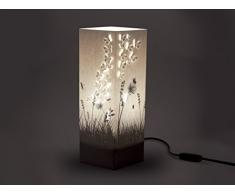 W-Lamp Shadow Collection Butterflies Lampada Arredo E14, 11 W, Crema, 11 x 11 x 32 cm
