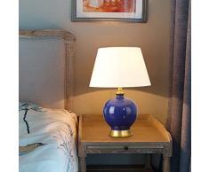 Lampada Da Tavolo In Ceramica Blu - Lampada Da Tavolo Classica Con Cremagliera Di Ghiaccio Lampada Da Comodino Romantica Calda In Stile Cinese. Lampada Dimmerabile ( dimensioni : Dimming switch )