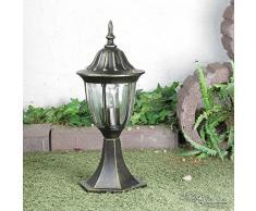 Lampada da esterno nostalgica lampada da esterno antica lampada base E27 fino a 60W IP44 resistente alle intemperie percorso lampada lampada percorso lampada per cortile giardino esterno
