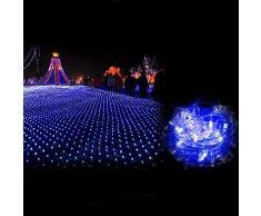 Led String Lights Tenda Window Fata Esterna A Pile Luce Con Tappo Di Coda_3 * 2 Metri 320 Luci Rete Da Pesca Luci A Tenda Leggera, Bianche