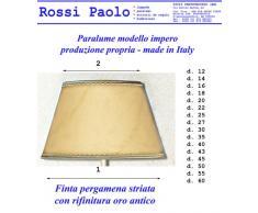 Paralume coprilampada in finta pergamena produzione propria made in Italy (diametro 50)