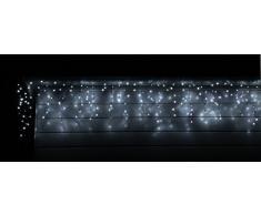CLGarden Tenda luminosa a cascata, motivo pioggia di ghiaccio LEDESR400 bianco freddo illuminazione esterna o interna a LED luci natalizie Terrazza Balcone Giardino