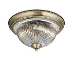 Searchlight American Diner plafoniera a soffitto finitura ottone anticato 4370