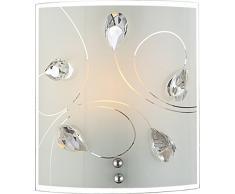 Globo Burgundy 40414-1W - Lampadario da parete Crystal, colore: bordeaux, led, elettrico