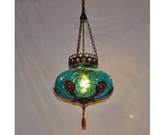 ZLL Lampadario singolo europeo in stile mediterraneo, lampadario a lampada a lampada da bar lampada da bar corridoio d'ingresso per l'ingresso in bohemien marocco , 40w