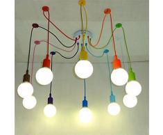 lampade a sospensione,Telecomando di moderna arte LightsDIY ciondolo illuminazione lampada multi-colore Silicone E27 portalampada lampade home decoration,220-240V,multi colore