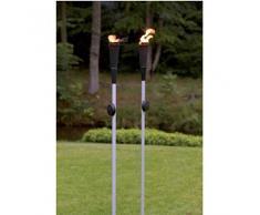 Torcia da giardino in metallo, fiaccola alimentata con olio per lampade, fiaccoladecorativa,
