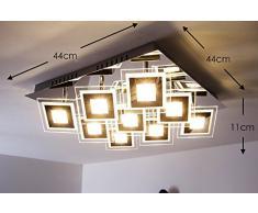 PLAFONIERA Cromo vetro Cerreto LED 36 Watt 3600 lumens 3000 Kelvin bianco caldo