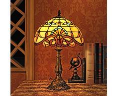 Gweat Lampada 12 pollici barocco europeo tiffany lampada da tavolo Bedroom Lampada da comodino