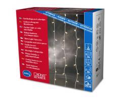 Konstsmide 3704-003 / Tenda di luci microlight / 160 lampade trasparenti / 24V trasformatore da esterno/cavo trasparente