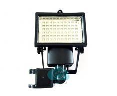Faretto ad Energia Solare con sensore di movimento a led lampada faro lampione