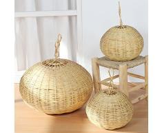 Paralume Orientalische Rattan lampada Saba marocchina lampadario cestino lampada 2 misure