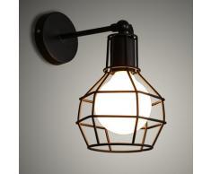 Applique da parete,KOONTING Vintage industriale metallo Lampade da parete,adatto per lampade E27.(Shape:A)