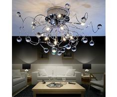 Lampadario a sospensione di design moderno e minimalista, per soggiorno o camera da letto, moda creativa, 11 x G4, ampiezza della base 20 cm, diametro 73 cm (lampadine incluse)