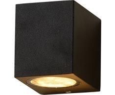 """Compatta applique da esterno""""Aalborg"""" downlight da parete/angolare di colore nero / IP44 GU10 / Lampada da esterno Lampada Cortile Giardino"""