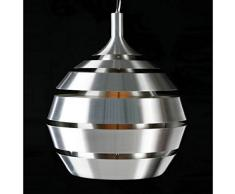 Design Lampada sospensione metallo TROGON (argento)