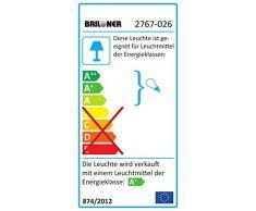Briloner Leuchten 2767Â -Â 026Â A +, LED FARETTO DA SOFFITTO, orientabile, 3Â W, bianco, 25,5Â x 6,5Â x 9,5Â cm