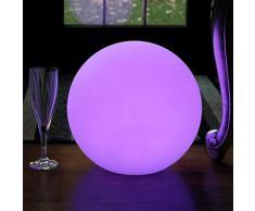 30cm Lampada Multicolore da Tavolo Ricaricabile - Sfera Luminosa LED da Interno per Camera, Comodino, Feste di PK Green