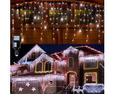 Tenda luminosa, Stringa Luminosa LED per Finestra Balcone 96 LEDs, 4m /13.1ft*0.6m/1.6ft, Luce Catena Bianco Freddo, Decorare Interni ed Esterni, Salotto, Giardino [Classe di efficienza energetica A]
