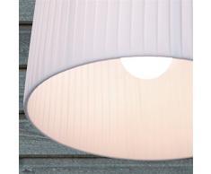 Design Delights - Plafoniera design a sospensione, diametro 40 cm, lampada a sospensione ideale per cucina e salotto bianco