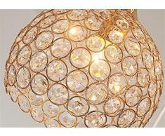 TRADE® Luce pendente Doro Globo Lampadario con K9 Crystal Regolabile Cordone Sala da Pranzo Illuminazione