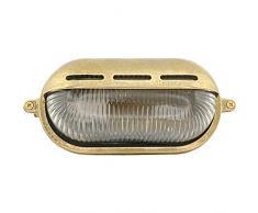 Meso 10W LED - Lampada applique da soffitto da parete da muro costruire dall' ottone per esterni o per interni illuminazione per marina, nautica barca vintage retrò leggero luce LED