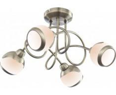 LAMPADA A SOFFITTO OTTONE ANTICATO, LAMPADINE INCLUSE 4xG9 33W Art. 56101-4D