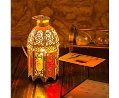 SSBY Il Marocco retrò decorazione di ferro battuto lampada da tavolo lampada sul comodino lampada regalo