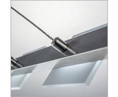Lampadario a sospensione regolabile   Lampadine LED da 4 watt 330 lumen incluse   Lampada per controsoffitti moderna   Classe A+