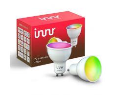Innr GU10 Smart Spot Color faretto LED, funziona con Philips Hue*, Alexa, Google Home (hub richiesto) dimmerabile, 16 millioni di colori, RS 230C-2