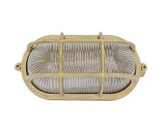 Navi 10W LED - Lampada applique da soffitto da parete da muro costruire dall' ottone per esterni o per interni illuminazione per marina, nautica barca vintage retrò leggero luce LED