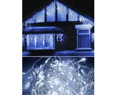Tenda luminosa di natale 160 led natalizia luci per esterno 3 metri luce bianca