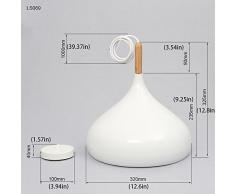 Moderna Lampada a Sospensione da Soffitto Modello Moderna Industriale Plafoniera in Metallo Lampadari a Sospensione Colore Bianco