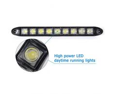 2x 9 Led Impermeabile Luci Diurne Daylight Running Light 12v LED DRL dell'automobile Luce Bianca MA136