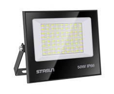 Faretto a LED da 50W, 5000LM, Luce Bianca 6000K, Impermeabile IP66, Faro LED Proiettore per Cortile, Garage, Parcheggio, Giardino, 24 mesi di garanzia