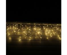 CLGarden Tenda luminosa a cascata luci LED Modello LEDESR400 colore bianco caldo illuminazione natale uso esterno interno decorazione casa grondaia resistente alle intemperie