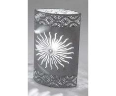 Lampada Oval 26 cm anticato sole grigio