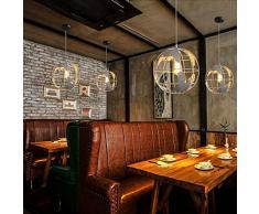 Lampada a sospensione moderna moderna europea Lampadario artigianale E27 Luce leggera Lampada da parete Lampada da cucina Camera da cucina Studio Globes lampada da cucina Lampadario a catena singola: 39,37 pollici 110V ~ 240V ( Color : White )