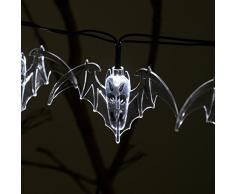 Halloween VER 10 luci bianche a LED Display lampada per le luci del cranio di Halloween per la decorazione dellalbero di Natale, trasparente