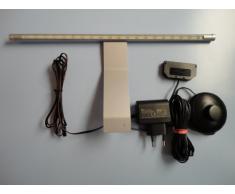 GEA GmbH Ida - Lampada LED sottopensile per armadio, 2 pezzi, con interruttore a pedale, colore bianco