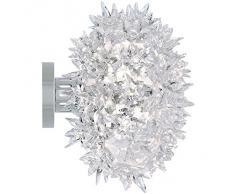 Kartell Bloom Cw2 Lampada da Parete G9, Bianco (Cristallo), Ø 28 cm h 22 cm