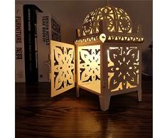Pumpink Lampada da tavolino della lampada da tavolo del castello intagliato della cavità del Marocco Lampada da tavolo della lampada da tavolino da letto della stanza da letto creativa di ferro creativo della luce di studio Lampada